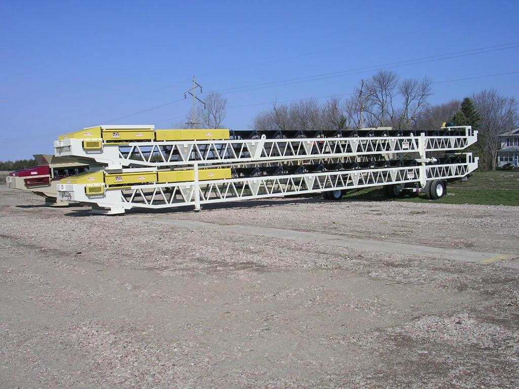 (4) 36x80' Portable Transfer Conveyor