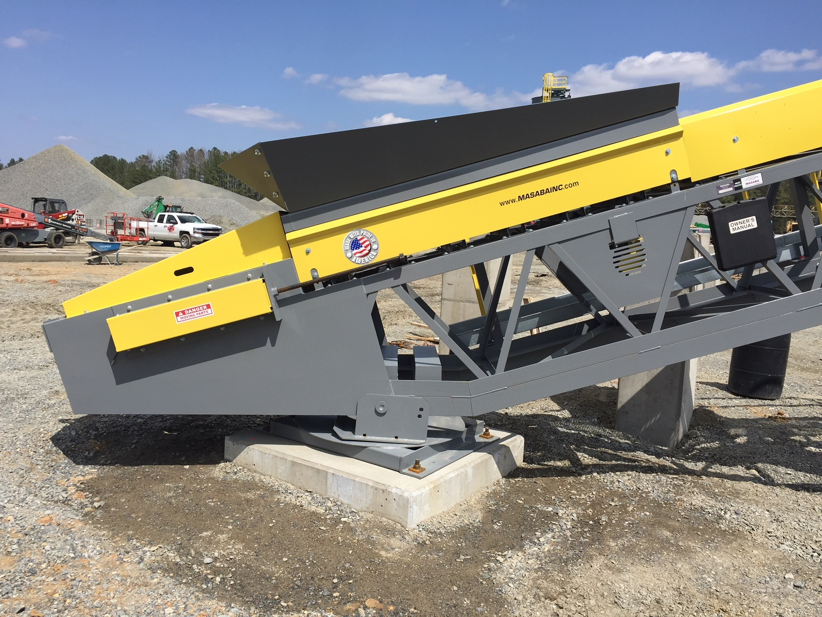 Masaba 24x125 Radial Stacker Receiving Hopper
